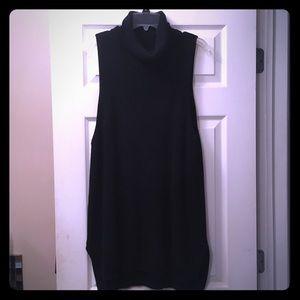 Black sleeveless tunic sweater